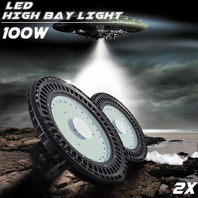 2X 100W UFO LED High Bay Light Lamp Lighting Warehouse Industrial Commercial Gym