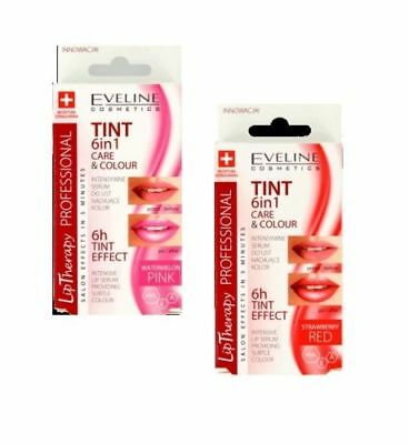 Eveline Lip Therapy Tint Care & Colour 6In1 Intensive Lip Colour Serum Stain