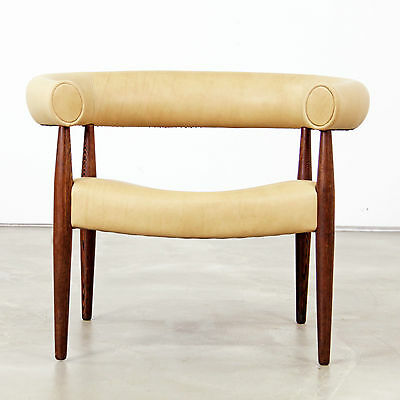 "Nanna Ditzel ""Ring"" Easy Chair with Aniline Leather - 1960s"