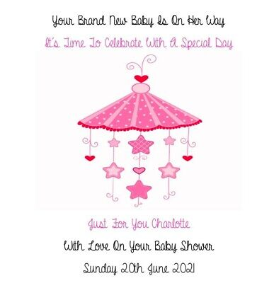 """Handmade Personalised 6"""" Square Baby Shower Card"""