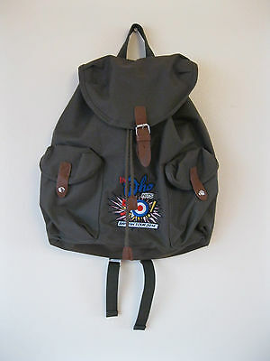 RARE The Who Hits 50 2014 Tour Green Rucksack Backpack Bag. VGC