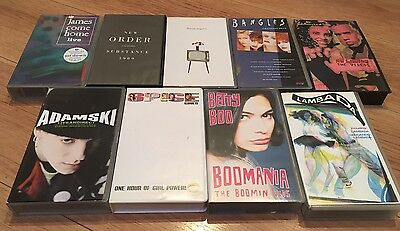 Joblot Of 1980s/90s Music Videos VHS