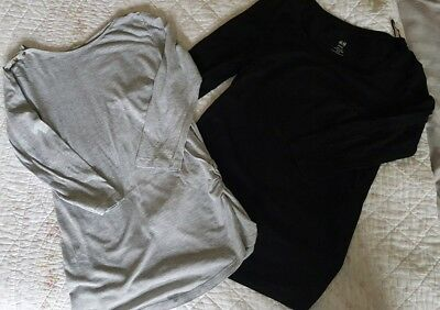 Maternity top t shirt bundle size 8 small. New look H&M.