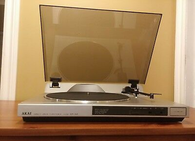 Vintage Direct Drive Turntable AKAI AP-A2 New Cartridge Audio Technica AT-90