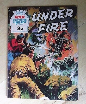 War Picture Library No 1077 Under Fire - 1975