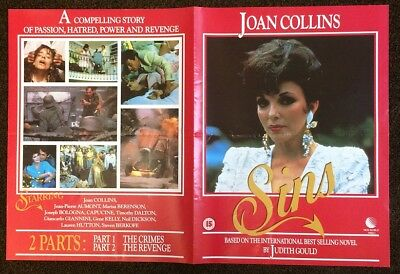 JOAN COLLINS - Original New World Video Poster For 'SINS' 1987