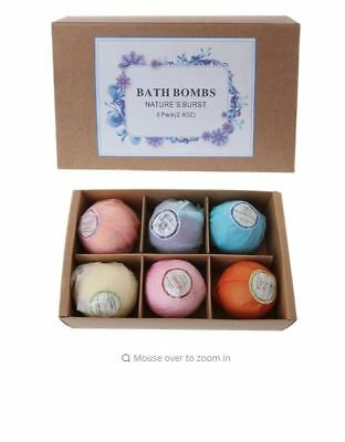 Aromatherapy Bubble Bath Bombs GIFT PACK OF 6 Bath Fizzies