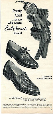 1960 Bob Smart Shoes Print Ad with Indian Maiden