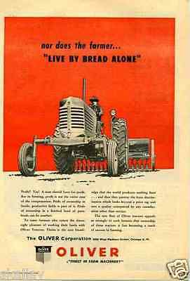 1948 Print Ad of Oliver Farm Tractor