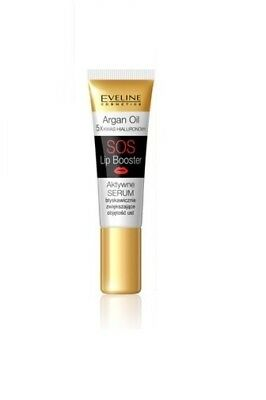 EVELINE HYALURON ARGAN OIL SOS LIP BOOSTER 5in1 PLUMPER SERUM