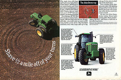 1991 John Deere 4455 Farm Tractor 2 Page Print Ad