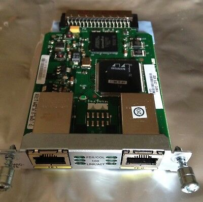 Cisco HWIC-2FE V02 2-Port Fast Ethernet High-Speed WAN Interface Card