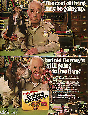 1980 Print Ad of Gaines Complete Dog Food with Harry Morgan