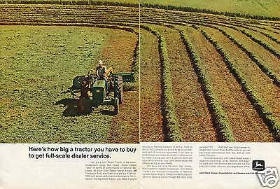 1969 John Deere 1520 2 Page Farm Tractor Print Ad