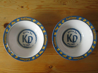 Kraft Dinner Bowls unused promotional melamine kd