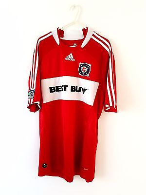 Chicago Fire Home Shirt 2008. Large. Adidas. Red Adults Short Sleeves Soccer Top