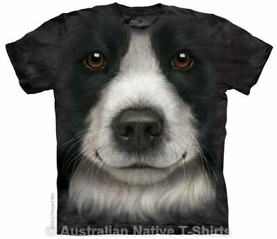Border Collie Dog Face T-Shirt in Adult Sizes - Dog Breeds by The Mountain Tees