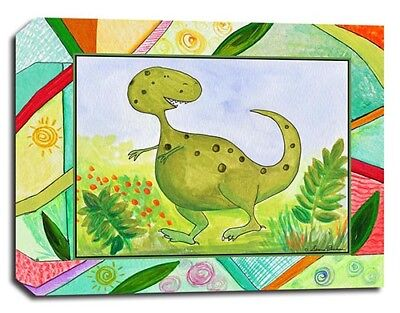 Baby Dino T-Rex Dinosaur, Print or Canvas, Kid Nursery Baby Wall Art Décor