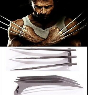 2PCS X-Men Wolverine Logan ABS Claws Blade Cosplay Props New Version Adjustable