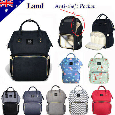 GENUINE LAND Multifunctional Large Baby Diaper Nappy Backpack Mummy Changing Bag