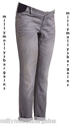 New Grey Relaxed Skinny NEXT Maternity Jeans Size 18 16 Long Regular Short