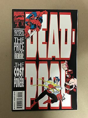 Deadpool Circle Chase #2 1St Print Marvel Comics (1993) Juggernaut