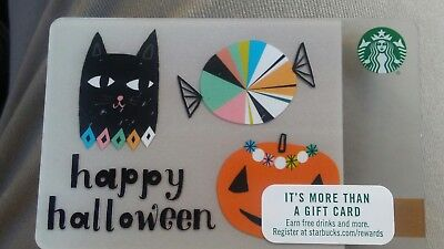 Starbucks Card 2017 Happy Halloween Gift Card + Bonus