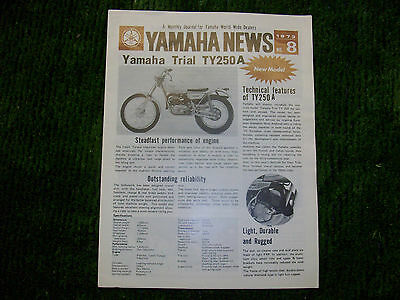 Yamaha News Letter 1973 Collectable