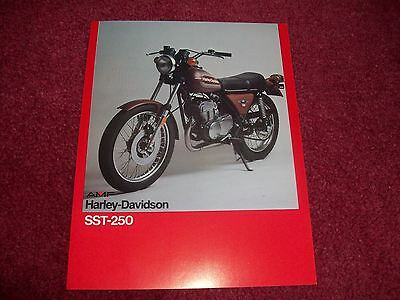 collectable 1970's harleydavidson sales brochure