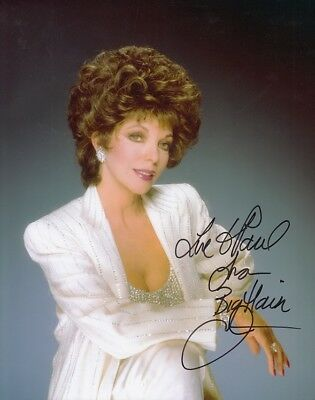 "JOAN COLLINS - 10"" x 8"" Colour Glamour Photograph PERSONALLY SIGNED TO PAUL F#21"