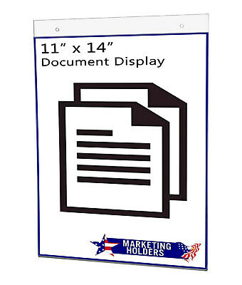 "Sign Holder Ad Frame 11""W x 14""H Wall Mount with Mounting Holes"