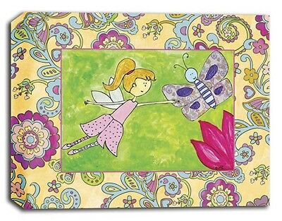 Fairy Friends Flower, Prints or Canvas Wall Art Decor, Kids Bedroom Baby Nursery