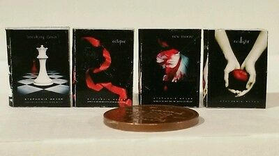 Twighlight series of FOUR books in 1/12th scale. Sale sale sale!