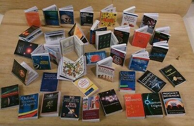 DOLLS HOUSE MINIATURE - JOB LOT OF 50 /(individual) SCIENCE books with pictures