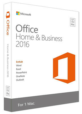 Microsoft Office Home und Business 2016 for Mac License Product Key for 1 PC