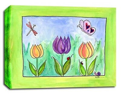 Flowers Garden Party, Prints or Canvas Wall Art Decor, Kids Bedroom Baby Nursery