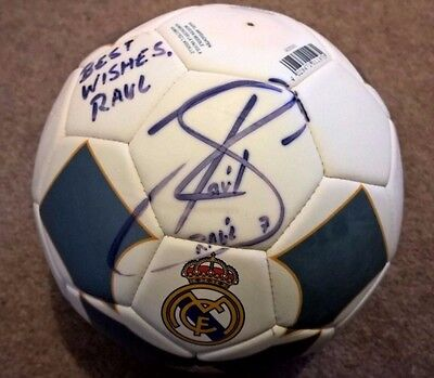 Raul Signed Real Madrid Signed Football - 'best wishes Raul' - 2008