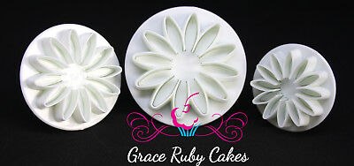 Sunflower Plunger Cutters And Embosser  Fondant Icing Cake Mould Decorating Set