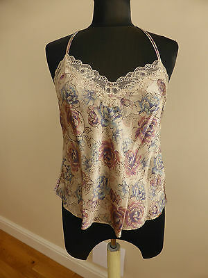 Bnwt Marks & Spencer Rosie For Autograph Camisole Swing Top With Silk Floral S10