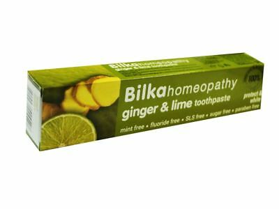 Bilka Homeopathy Toothpaste GINGER and LIME 75ml Mint free Fluoride free