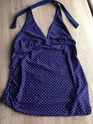 Blooming marvellous Tankini, Size 12, Blue with pink polka dots