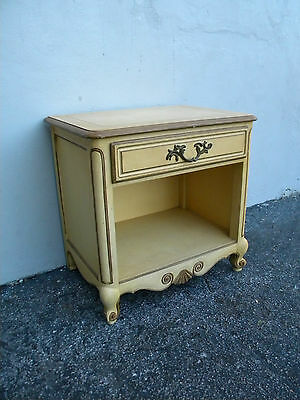 French Nightstand / End Table / Side Table by Baker 2787