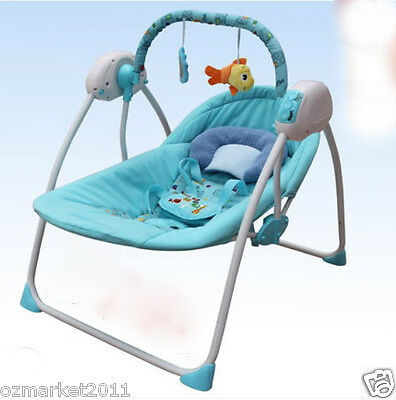 Fashion Blue Security Multi-Purpose Baby Swing Chair/Baby Rocking Chair AQ
