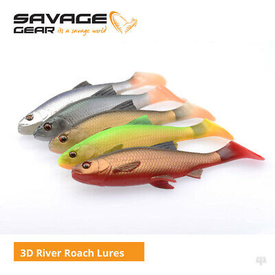 Savage Gear 3D River Roach Lures - Pike Perch Zander Catfish Fishing Tackle