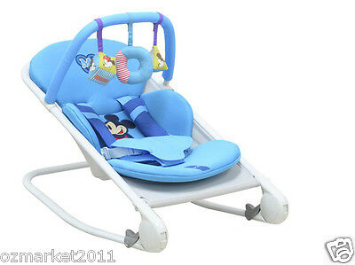 Fashion Sky Blue Security Multi-Purpose Baby Swing Chair/Baby Rocking Chair WK