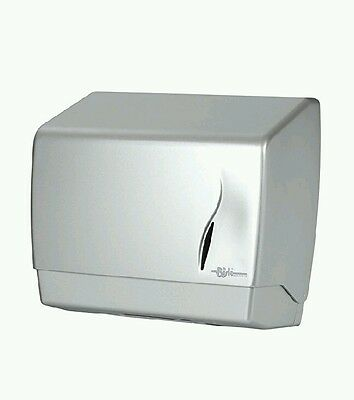 Bisk ABS Satin Finish Z Fold Paper Towel Dispenser, Silver