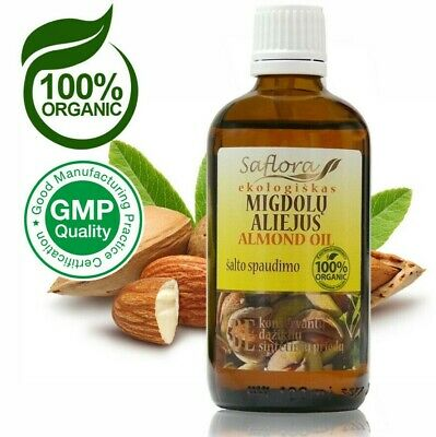 Sweet Almond Oil  100 ml / 3.6 oz | 100% Pure Organic Cold Pressed