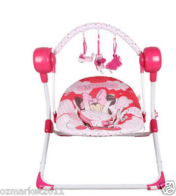 Fashion Pink Security Baby Swing Chair/Electric Rocking Chair+Charger JM