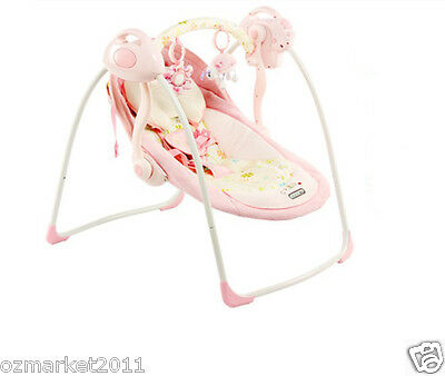 Pink Comfortable Security Collapsible Electric Rocking Chair/Baby Rocking Chair