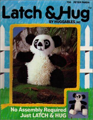 Huggables Vintage (1983) Animal Latch & Hug Peter Panda Bear 706